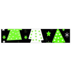 Green Playful Xmas Flano Scarf (Small)