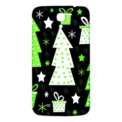 Green Playful Xmas Samsung Galaxy Mega I9200 Hardshell Back Case