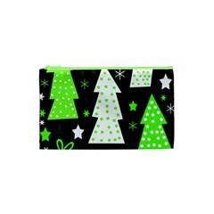Green Playful Xmas Cosmetic Bag (XS)