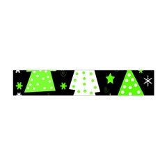 Green Playful Xmas Flano Scarf (Mini)