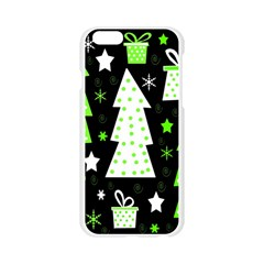 Green Playful Xmas Apple Seamless iPhone 6/6S Case (Transparent)