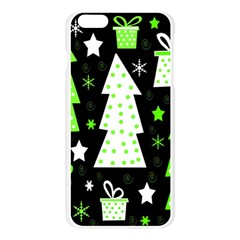 Green Playful Xmas Apple Seamless iPhone 6 Plus/6S Plus Case (Transparent)