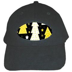 Yellow playful Xmas Black Cap