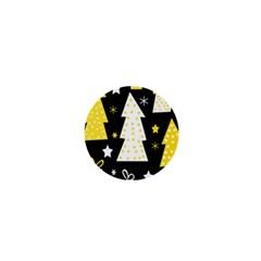Yellow playful Xmas 1  Mini Magnets