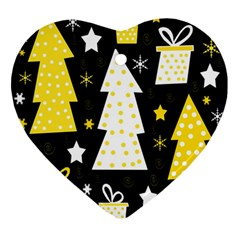 Yellow playful Xmas Ornament (Heart)