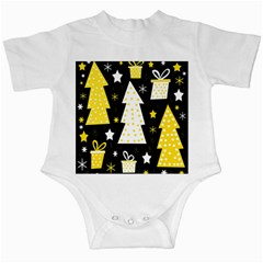 Yellow playful Xmas Infant Creepers