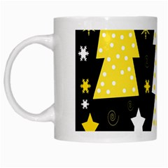 Yellow playful Xmas White Mugs