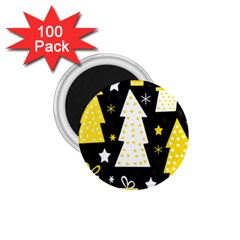 Yellow playful Xmas 1.75  Magnets (100 pack)