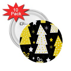 Yellow playful Xmas 2.25  Buttons (10 pack)