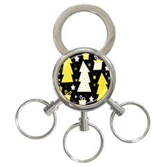 Yellow playful Xmas 3-Ring Key Chains