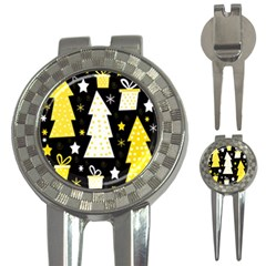 Yellow playful Xmas 3-in-1 Golf Divots