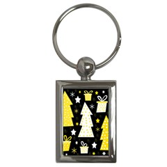 Yellow playful Xmas Key Chains (Rectangle)