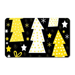 Yellow Playful Xmas Magnet (rectangular)