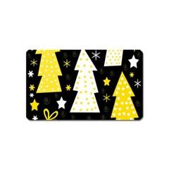 Yellow playful Xmas Magnet (Name Card)