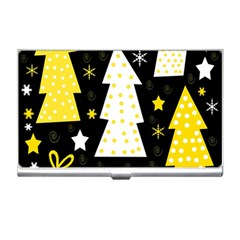 Yellow playful Xmas Business Card Holders