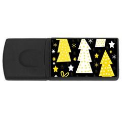 Yellow playful Xmas USB Flash Drive Rectangular (1 GB)