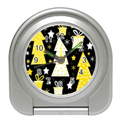 Yellow playful Xmas Travel Alarm Clocks