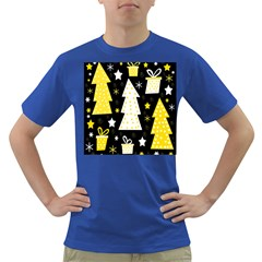 Yellow playful Xmas Dark T-Shirt