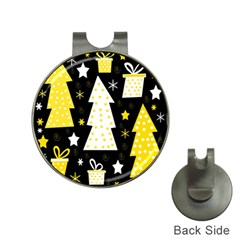 Yellow playful Xmas Hat Clips with Golf Markers