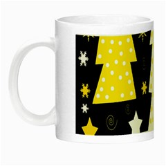 Yellow playful Xmas Night Luminous Mugs