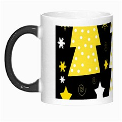 Yellow playful Xmas Morph Mugs