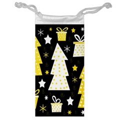 Yellow playful Xmas Jewelry Bags