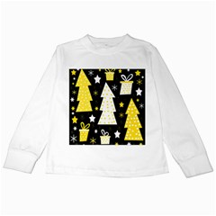 Yellow playful Xmas Kids Long Sleeve T-Shirts
