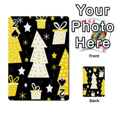 Yellow playful Xmas Playing Cards 54 Designs