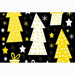 Yellow playful Xmas Collage Prints