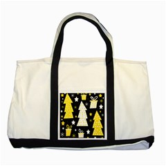Yellow playful Xmas Two Tone Tote Bag