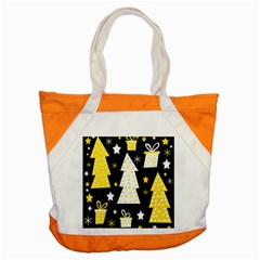Yellow playful Xmas Accent Tote Bag