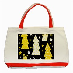 Yellow playful Xmas Classic Tote Bag (Red)