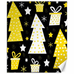 Yellow playful Xmas Canvas 8  x 10