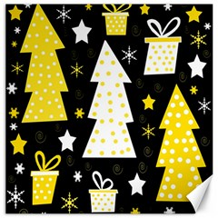 Yellow playful Xmas Canvas 20  x 20
