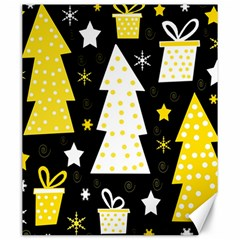 Yellow playful Xmas Canvas 20  x 24