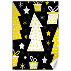 Yellow playful Xmas Canvas 24  x 36