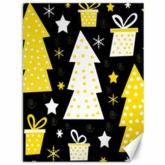 Yellow playful Xmas Canvas 36  x 48