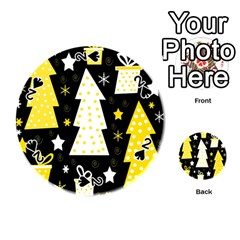 Yellow playful Xmas Playing Cards 54 (Round)