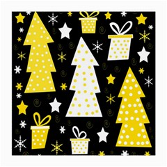 Yellow playful Xmas Medium Glasses Cloth