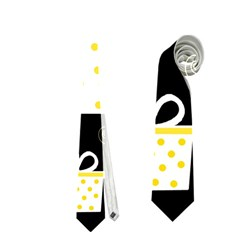 Yellow playful Xmas Neckties (Two Side)
