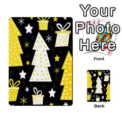 Yellow playful Xmas Multi-purpose Cards (Rectangle)