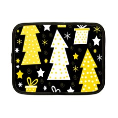 Yellow playful Xmas Netbook Case (Small)