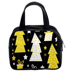 Yellow playful Xmas Classic Handbags (2 Sides)