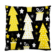 Yellow playful Xmas Standard Cushion Case (Two Sides)