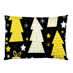 Yellow playful Xmas Pillow Case