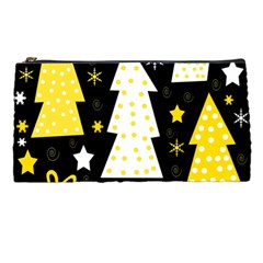 Yellow playful Xmas Pencil Cases