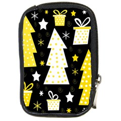 Yellow playful Xmas Compact Camera Cases