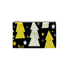 Yellow playful Xmas Cosmetic Bag (Small)