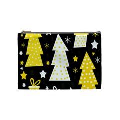 Yellow playful Xmas Cosmetic Bag (Medium)