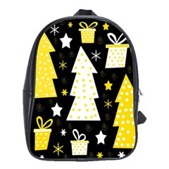 Yellow playful Xmas School Bags(Large)